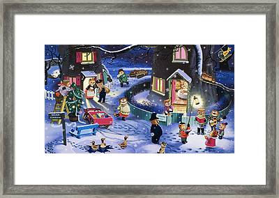 Christmas Scene Framed Print by English School
