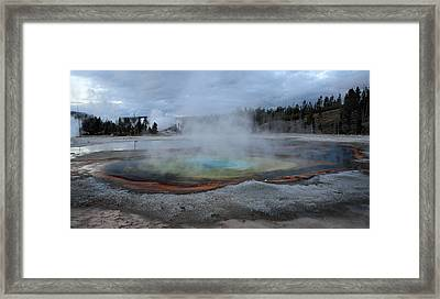 Chromatic Pool Yellowstone Framed Print by Pierre Leclerc Photography