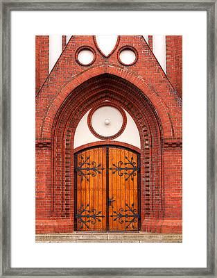 Church Entrance Framed Print by Boyan Dimitrov