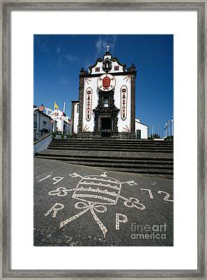 Church In The Azores Framed Print by Gaspar Avila
