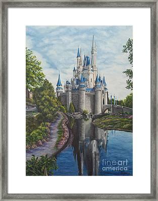 Cinderella Castle  Framed Print by Charlotte Blanchard