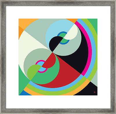 Circle Abstract Framed Print by Gary Grayson