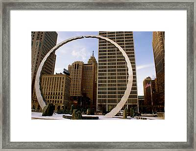 Circle Of Labor Framed Print by Sonja Anderson