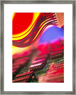 Circuit Board Framed Print by Chris Knapton