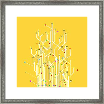 Circuit Board Graphic Framed Print by Setsiri Silapasuwanchai