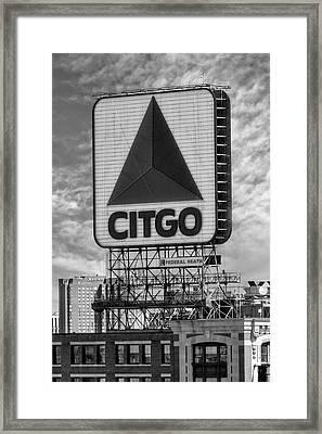 Citgo Sign Kenmore Square Boston Framed Print by Susan Candelario
