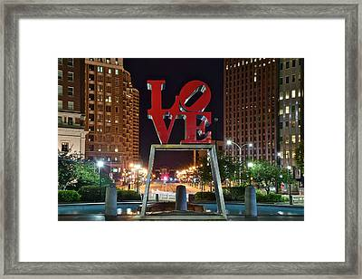 City Of Brotherly Love Framed Print by Frozen in Time Fine Art Photography