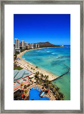 Classic Waikiki Framed Print by Tomas del Amo - Printscapes
