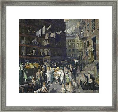 Cliff Dwellers Framed Print by George Wesley Bellows