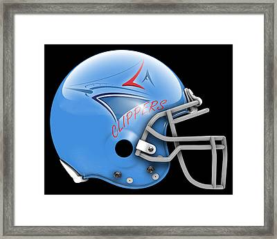 Clippers What If Its Football Framed Print by Joe Hamilton