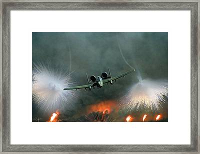 Close Air Support Framed Print by Peter Chilelli