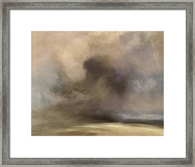 Cloudy Horizon Framed Print by Lonnie Christopher