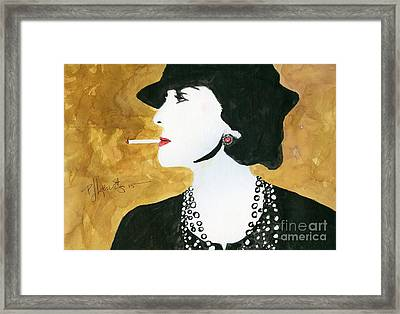 Coco Framed Print by P J Lewis