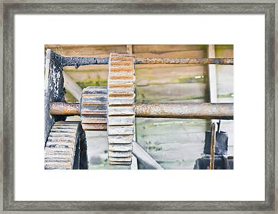 Cog Framed Print by Tom Gowanlock