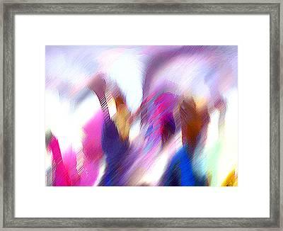 Color Dance Framed Print by Anil Nene