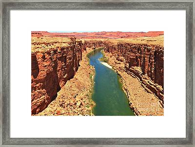 Colorado River Canyon Framed Print by Adam Jewell