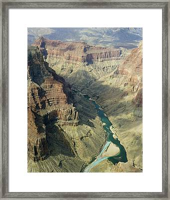 Colorado River In The Grand Canyon Framed Print by M K  Miller