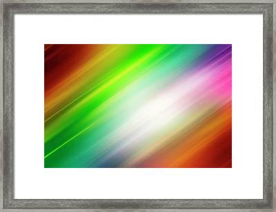 Colorful Abstract  Framed Print by Les Cunliffe