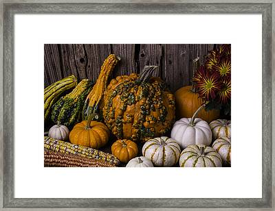 Colorful Autumn Still Life Framed Print by Garry Gay