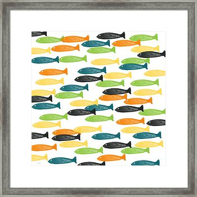 Colorful Fish  Framed Print by Linda Woods