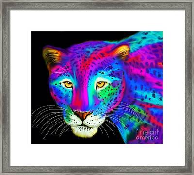 Colorful Jaguar  Framed Print by Nick Gustafson