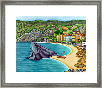 Colours Of Monterosso Framed Print by Lisa  Lorenz