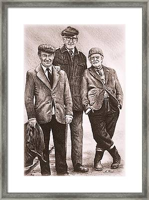Compo Clegg And Foggy Framed Print by Andrew Read