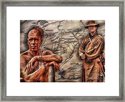 Conflict On The Pennsylvania Frontier Framed Print by Randy Steele