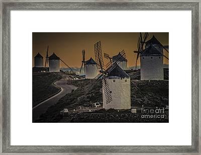 Consuegra Windmills 2 Framed Print by Heiko Koehrer-Wagner