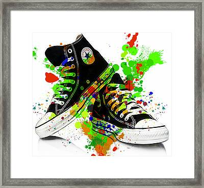 Converse All Stars Framed Print by Marvin Blaine