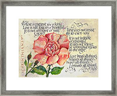 1 Corinthians 13 Framed Print by Dave Wood