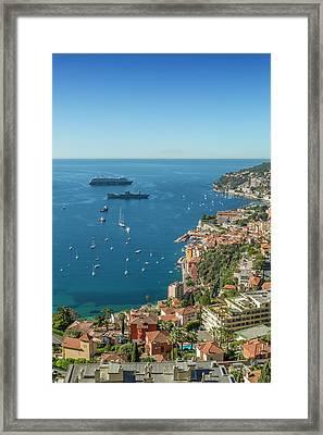 Cote D'azur Villefranche Sur Mer Framed Print by Melanie Viola