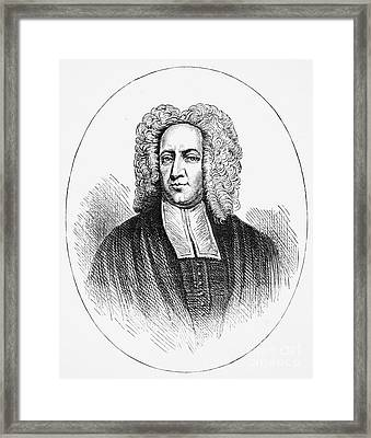 Cotton Mather (1663-1728) Framed Print by Granger
