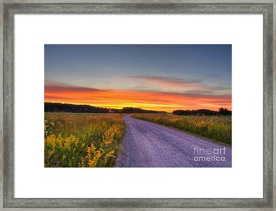 Country Road Framed Print by Veikko Suikkanen