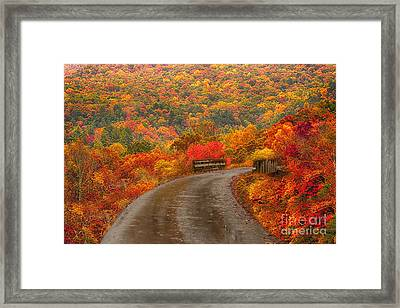 Mountain Road Framed Print by Geraldine DeBoer