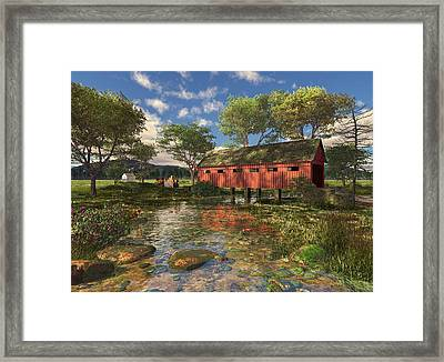 Covered Bridge Framed Print by Mary Almond