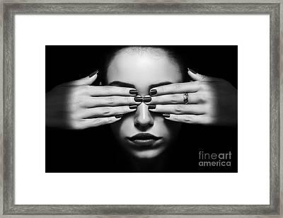 Covered Eyes Framed Print by Aleksey Tugolukov