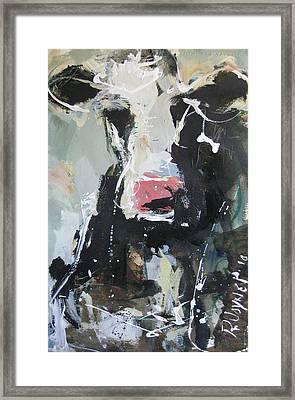 Cow Portrait Framed Print by Robert Joyner