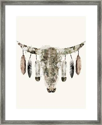 Cow Skull Framed Print by Bri B