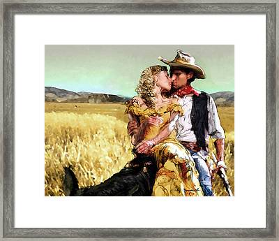 Cowboy's Romance Framed Print by Mike Massengale