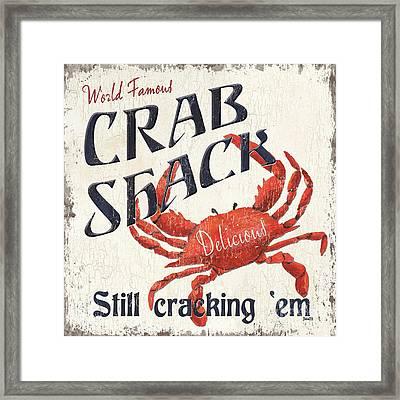 Crab Shack Framed Print by Debbie DeWitt