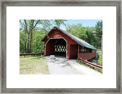 Creamery Covered Bridge Framed Print by Wayne Toutaint
