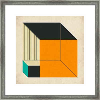Cubes 11 Framed Print by Jazzberry Blue