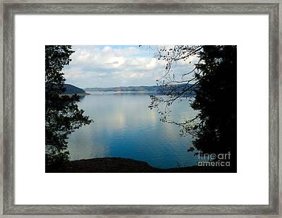 Cumberland Lake Framed Print by Anne Kitzman