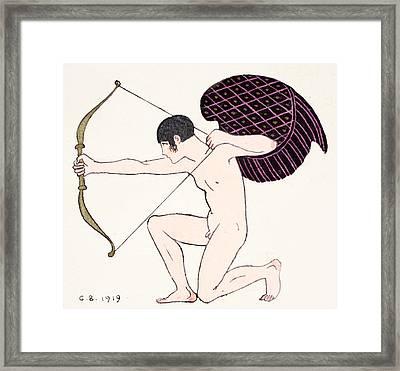 Cupid Framed Print by Georges Barbier