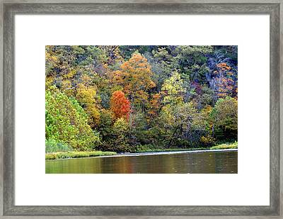 Current River Fall Framed Print by Marty Koch