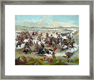 Custer's Last Stand Framed Print by War Is Hell Store