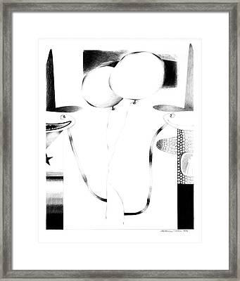 Cycloptic Couple Framed Print by Tony Paine