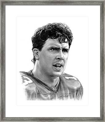 Dan Marino Framed Print by Harry West