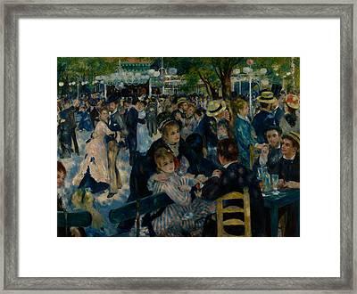 Dance At Le Moulin De La Galette  Framed Print by Auguste Renoir